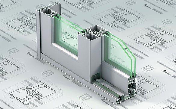 Costruzioni metalliche carpenterie costruzioni in acciaio - dettaglio serramento alluminio