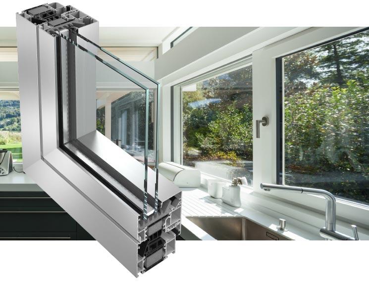 Serramenti in alluminio infissi finestre - img01 sezione serramento in alluminio