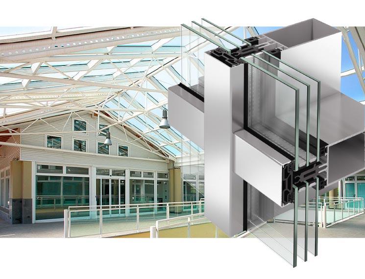 Serramenti in alluminio infissi finestre - img02 sezione serramento in alluminio