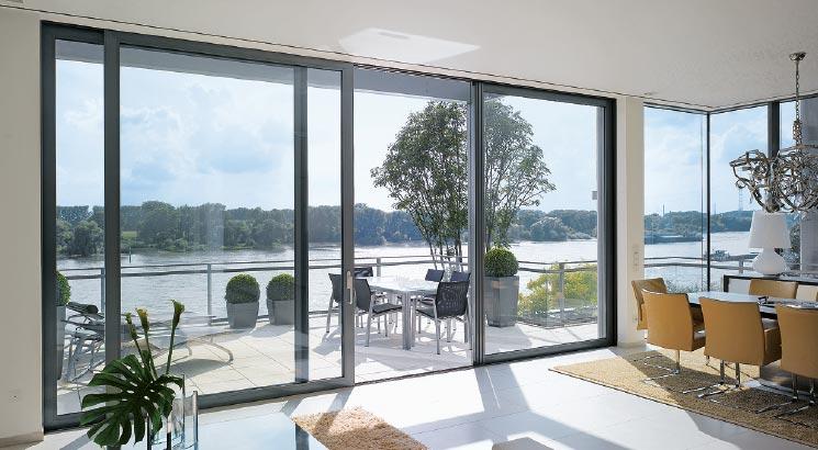 Serramenti in alluminio infissi finestre - img03 vetrata con serramenti in alluminio a grande visione