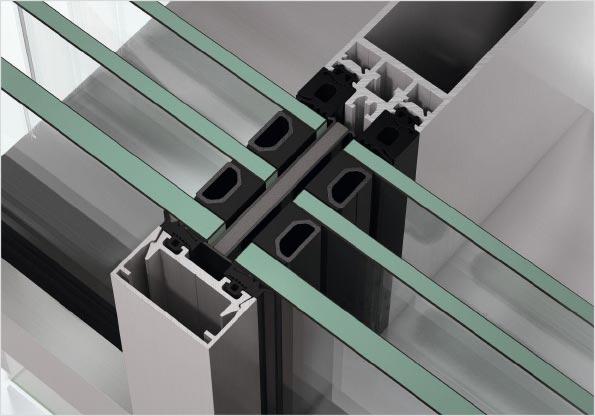 Serramenti in alluminio infissi finestre - img09 sezione di serramento in alluminio